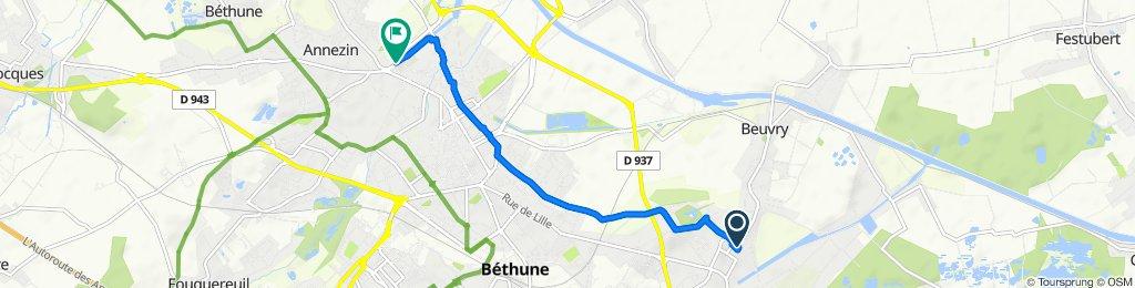 De 26 Place Roger Salengro, Beuvry à 100 Rue Émile Basly, Béthune