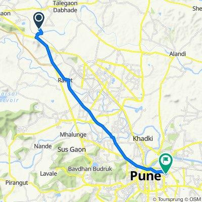 Route to Rajendra Singh Ji Road, Pune