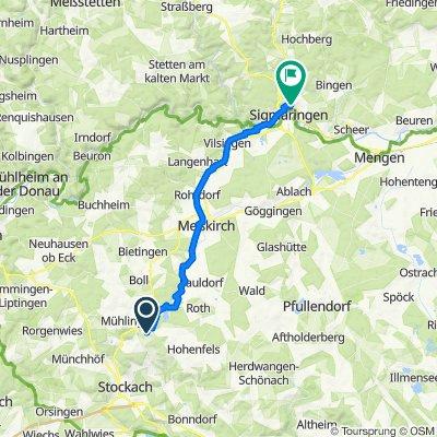 Obere Haldenäcker 2, Mühlingen nach Im Oberen Wentel 20, Sigmaringen