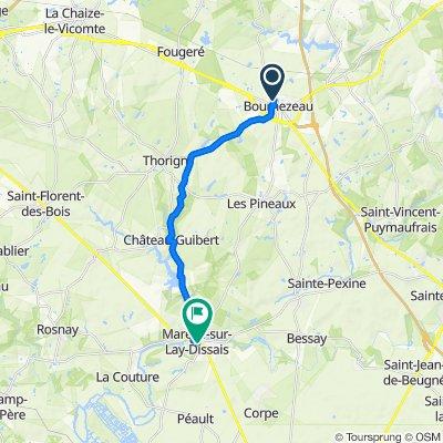 De 13 Rue de la Doulaye, Bournezeau à Rue du Puy sans Tour, Mareuil-sur-Lay-Dissais