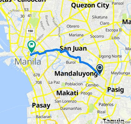 Route to Quezon Boulevard 528, Manila