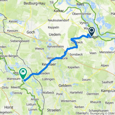 Etappe 4a: Xanten - Kevelear - Maas