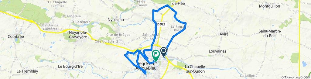 De Chemin de Louvaines, Segré à 1–3 Rue Jules Ferry, Segré