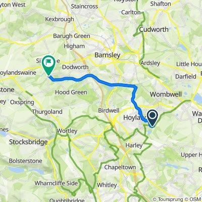 Elsecar Heritage Centre, Wath Road, Barnsley to 1–27 Ben Bank Road, Barnsley