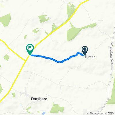 Route to Cico, Hinton Road, Saxmundham