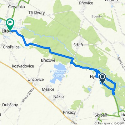 Route to Husova 906/5a, Litovel