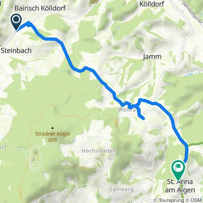 Bairisch Kölldorf 26, Bad Gleichenberg nach Marktstraße 18, St. Anna am Aigen