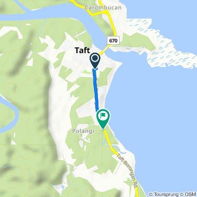 Jct Taft - Oras - Sn Policarpo - Arteche Road to Jct Taft - Oras - Sn Policarpo - Arteche Road