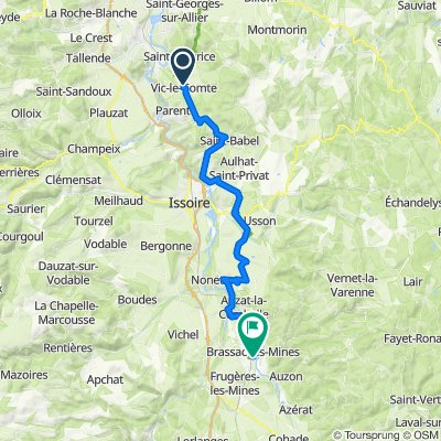 De 90 Route des Grands Creux, Vic-le-Comte à Chemin de l'Agriculture, Brassac-les-Mines