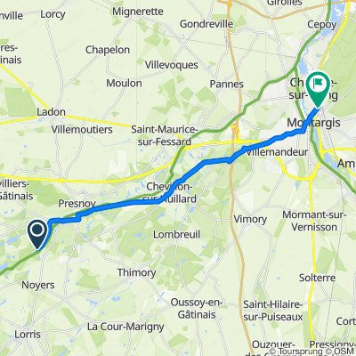 Route nach 93 Avenue du Général de Gaulle, Montargis