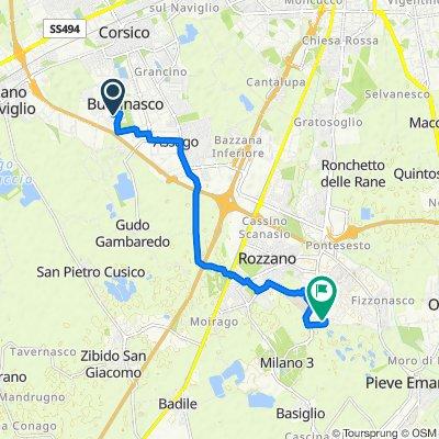 Da Via Antonio Stradivari 31–33, Buccinasco a Via Rita Levi Montalcini 4, Pieve Emanuele