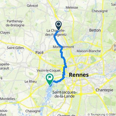 De 8 Allée du Courtil, La Chapelle-des-Fougeretz à Moulin d'Apigné, Le Rheu