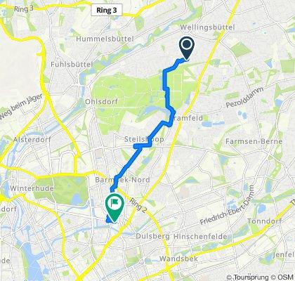 Lichtensteinweg 4, Hamburg nach Wiesendamm 7, Hamburg