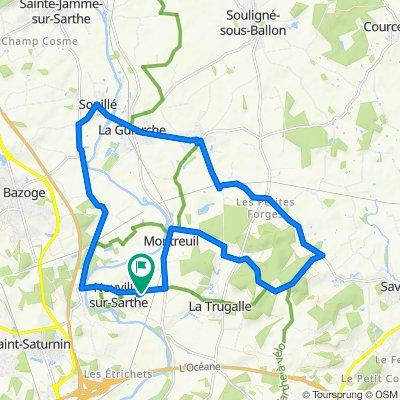 De La Foucaudière 50, Neuville-sur-Sarthe à La Foucaudière 50, Neuville-sur-Sarthe