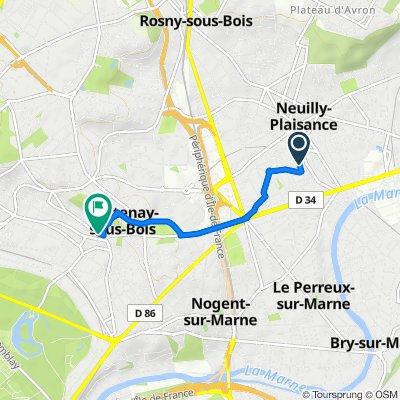 De 17ter Rue Albert Collinet, Le Perreux-sur-Marne à 11 Rue Charles Bassée, Fontenay-sous-Bois