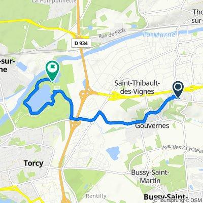 Itinéraire à partir de 24 Avenue Henri Labasque, Lagny-sur-Marne
