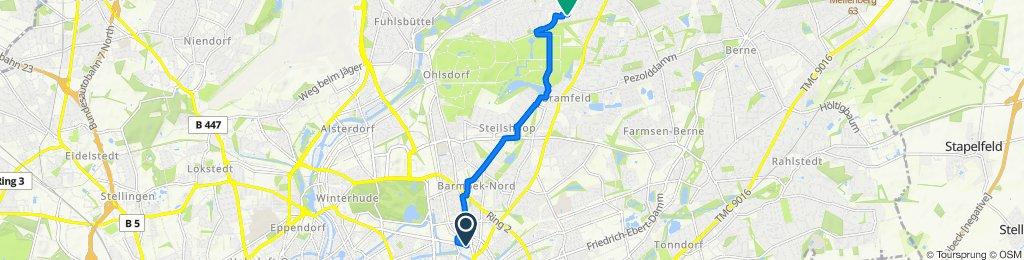 Wiesendamm 7, Hamburg nach Lichtensteinweg 9, Hamburg