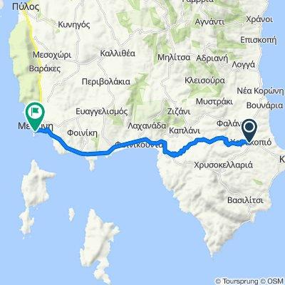 Route from Kalamatas-Koronis, Charakopio