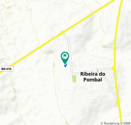 De Avenida B, 308, Ribeira do Pombal a Avenida B, 308, Ribeira do Pombal