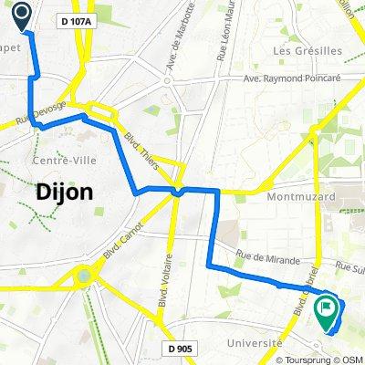 De 6 Rue de Beaune, Dijon à 1–5 Rue Edgar Faure, Dijon