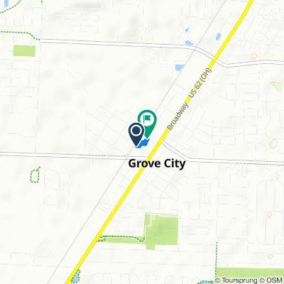 3465 Park St, Grove City to 3425 Grant Ave, Grove City