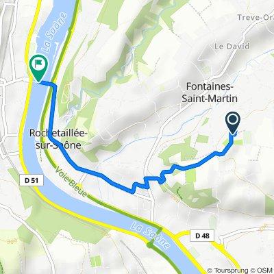 De 32 Rue du Belvédère, Fontaines-Saint-Martin à Pont de Couzon, Couzon-au-Mont-d'Or