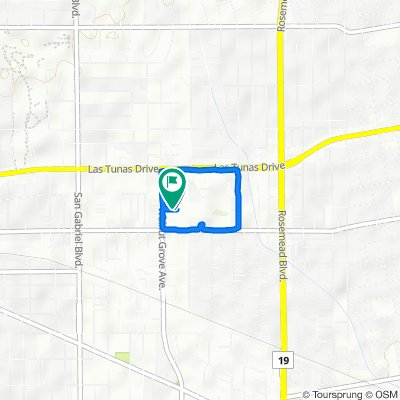 5550 S Walnut Grove Ave, San Gabriel to 5554 S Walnut Grove Ave, San Gabriel