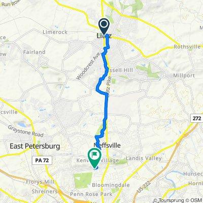 9 E Main St, Lititz to 133 Delp Rd, Lancaster