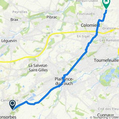 Itinéraire à partir de 3015 Route de Tarbes, Fonsorbes