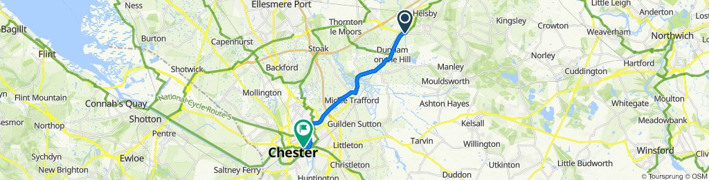 Chester Road, Frodsham to 10 Steam Mill Street, Chester
