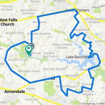 3430 Slade Run Dr, Falls Church to 3466 Mildred Dr, Falls Church