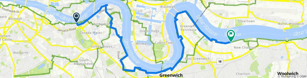 41 Rotherhithe Street, London to Thames Path, London