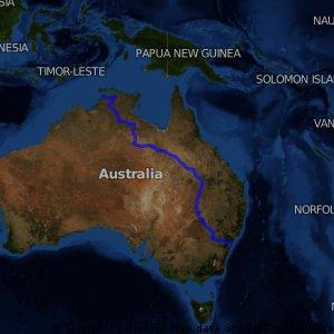Darwin to Sydney