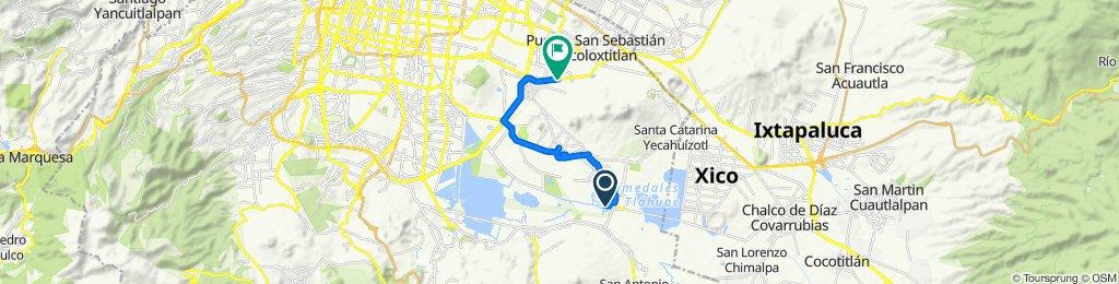 De Calle de las Leyes de Reforma 4, Ciudad de México a Calzada Ermita Iztapalapa 1615, Ciudad de México