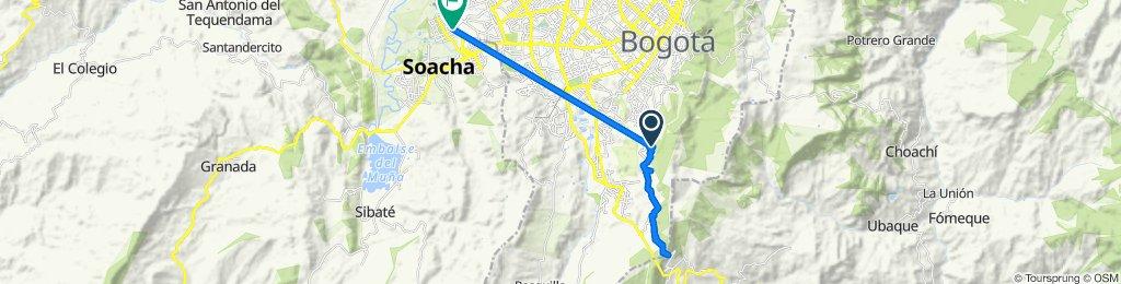 De Calle 57 Sur 15-70, Bogotá a Diagonal 40 14, Soacha