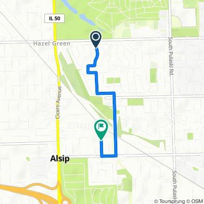 11540 S Kolmar Ave, Alsip to 12200 S 45th Ave, Alsip