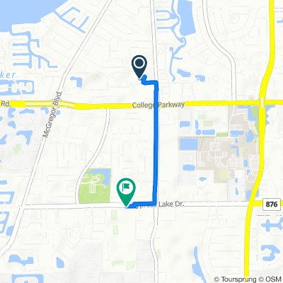 6020 E College Pointe Dr, Fort Myers to 8901 Cypress Lake Dr, Fort Myers