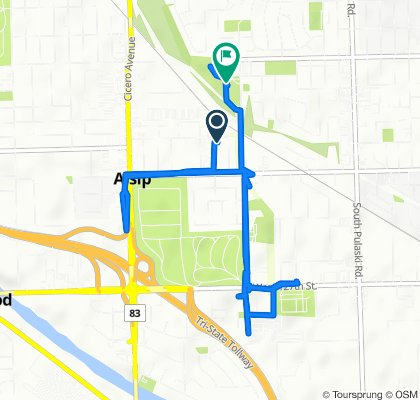 Route from 12207 S 45th Ave, Alsip