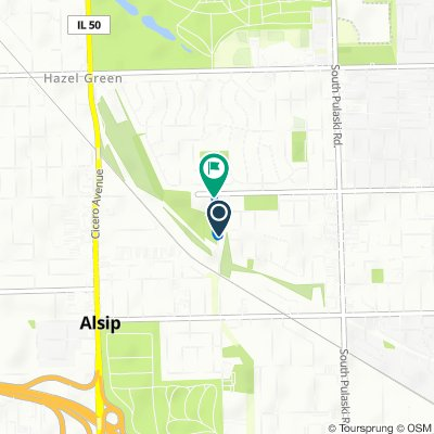 12008 S Kildare Ave, Alsip to 11910 S Kostner Ave, Alsip