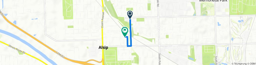 11906–11922 S Kostner Ave, Alsip to 4500 W 122nd St, Alsip