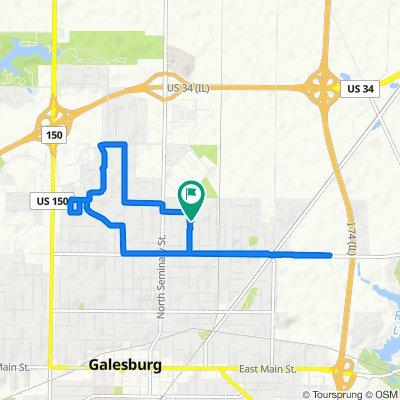 Beecher Avenue 1571, Galesburg to Beecher Avenue 1555, Galesburg