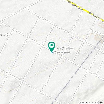 Jalle Siad Road, Mogadishu to Jalle Siad Road, Mogadishu