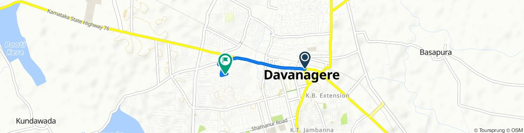 Davanagere Old Bus Stand to 4th Main 4th, Davanagere