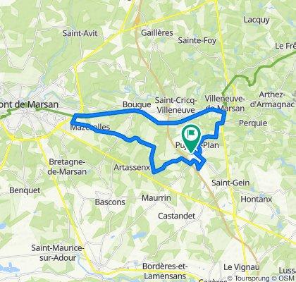 De 590 Route de Laglorieuse, Pujo-le-Plan à 590 Route de Laglorieuse, Pujo-le-Plan