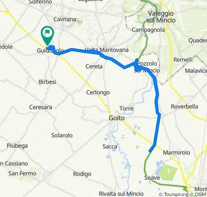 Da Via San Luigi Gonzaga 51, Guidizzolo a Via Po 41, Guidizzolo