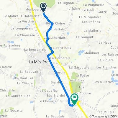 De La Derre, La Mézière à Zone Artisanale de la Montgervalaise 1, La Mézière