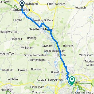 Day 10b Stowmarket to Ipswich