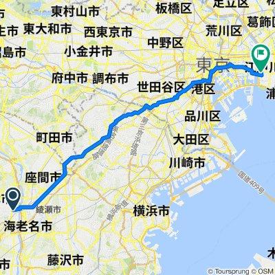 17-17, Nakacho 3-Chōme, Atsugi-Shi to 6-3, Nishikasai 3-Chōme, Edogawa-Ku