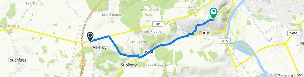 4–6 Rue de la Croix Saint-Marc, Villeroy nach Rue de Saint-Bond, Paron