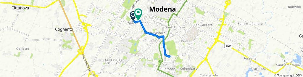 Da Via Giovanni Grillenzoni 13, Modena a Strada San Faustino 6, Modena